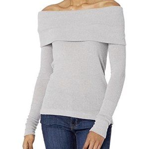 Free People Snowbunny Off the Shoulder Top Grey S
